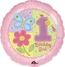 We Like To Party Hugs & Stitches 1st Birthday Girl 18″ (45cm) Foil Balloon