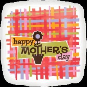 """We Like To Party Happy Mother's Day Plaid 18"""" (45cm) Foil Balloon"""