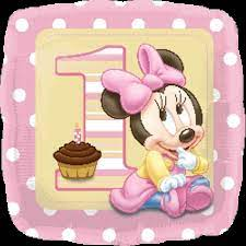 We Like To Party Minnie Mouse 1st Birthday 18″ (45cm) Foil Balloon