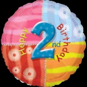 We Like To Party Happy 2nd Birthday 18″ (45cm) Foil Balloon