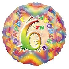 We Like To Party Happy 6th Birthday 18″ (45cm) Foil Balloon