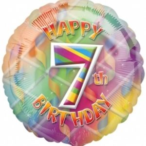 We Like To Party Happy 7th Birthday 18″ (45cm) Foil Balloon