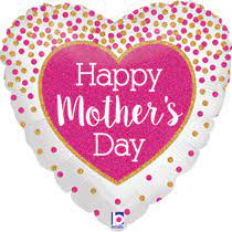 """We Like To Party Heart Holo Glittering Mother's Day 18"""" (45cm) Foil Balloon"""