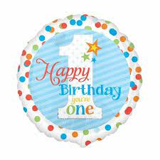 We Like To Party Happy Birthday You're One Boy 18″ (45cm) Foil Balloon