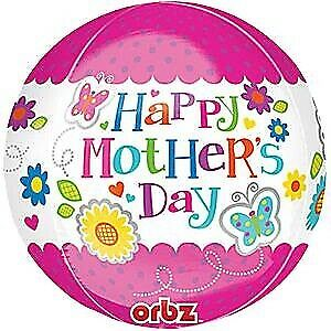 We Like To Party Happy Mother's Day Pink Flowers Orbz Foil Balloon