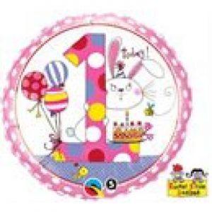 We Like To Party Rachel Ellen Age 1 Bunny 18″ (45cm) Foil Balloon