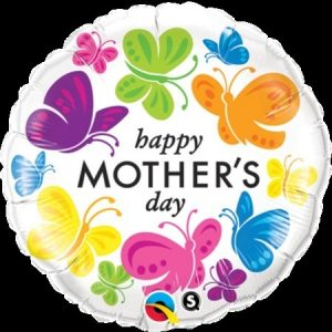 """We Like To Party Mother's Day Vivid Butterflies 18"""" (45cm) Foil Balloon"""