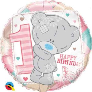 We Like To Party Tatty Teddy 1st Birthday Pink 18″ (45cm) Foil Balloon