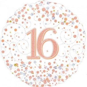 We Like To Party Sparkling Fizz 16 Rose Gold 18″ (45cm) Foil Balloon