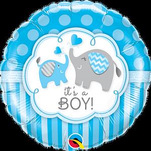 We Like To Party It's A Boy Elephants 18″ (45cm) Foil Balloon