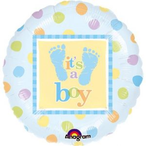 We Like To Party Baby Steps Boy 18″ (45cm) Foil Balloon