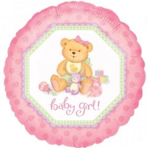 We Like To Party Baby Girl Bear 18″ (45cm) Foil Balloon