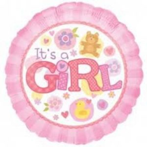 We Like To Party It's A Girl Pink 18″ (45cm) Foil Balloon