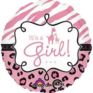 We Like To Party Safari Baby Girl 18″ (45cm) Foil Balloon