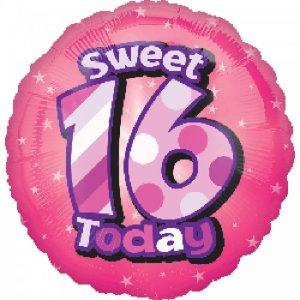We Like To Party Sweet 16 Today 18″ (45cm) Foil Balloon