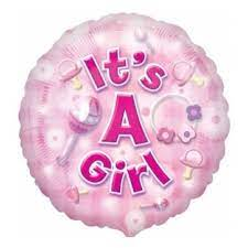 We Like To Party New Baby Girl 18″ (45cm) Foil Balloon