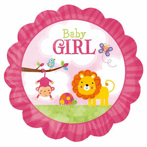 We Like To Party Baby Girl Safari Lion 18″ (45cm) Foil Balloon