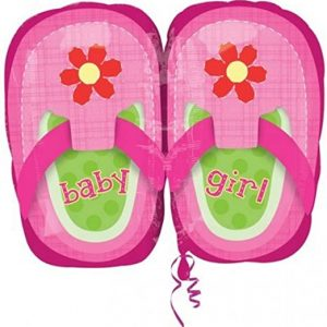 We Like To Party Baby Girl Pink Shoes 22″ (55cm) Foil Balloon