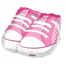 We Like To Party Baby Girl Sneakers 18″ (45cm) Foil Balloon