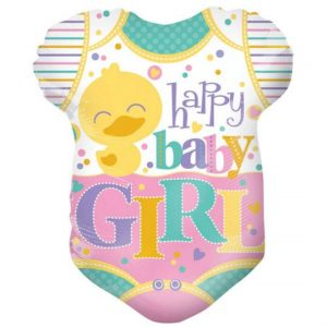 We Like To Party Happy Baby Girl Onesie 18″ (45cm) Foil Balloon