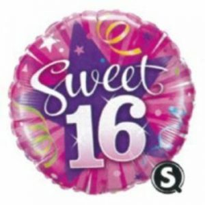 We Like To Party Sweet 16 Shining Star Hot Pink 18″ (45cm) Foil Balloon
