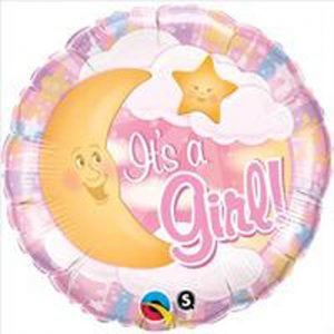 We Like To Party It's A Girl Celestial Pink 18″ (45cm) Foil Balloon