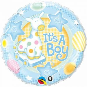 We Like To Party It's A Boy Soft Giraffe 18″ (45cm) Foil Balloon