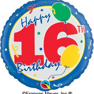 We Like To Party Happy 16th Birthday 18″ (45cm) Foil Balloon